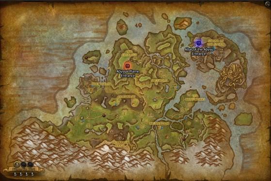 L'emplacement des deux grottes cachées - World of Warcraft