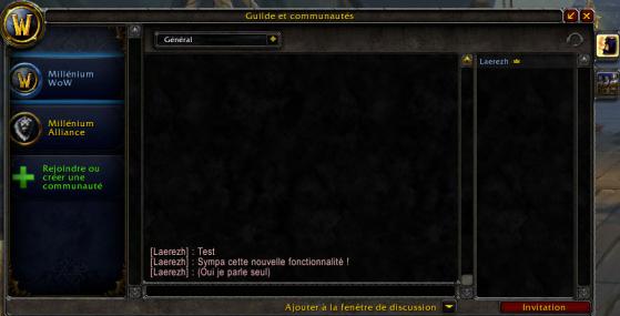 Aperçu d'une communauté Battle.net - World of Warcraft