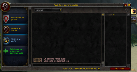 Aperçu des communautés dans la faction opposée - World of Warcraft