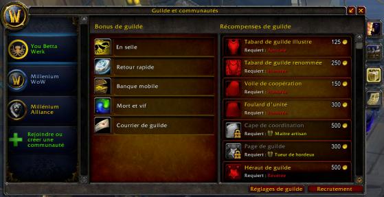 Bonus et récompenses de guilde - World of Warcraft