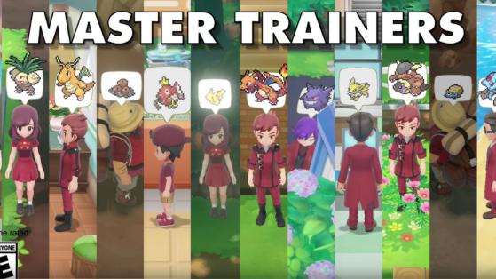 Pokémon Let's GO : Master trainer, combattez 151 dresseurs