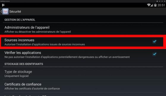 Cliquez sur le menu sécurité (émulateur : Nox) - Hearthstone