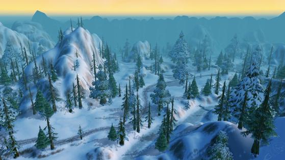 Le micro-climat polaire de Dun Morogh, encore plus incompréhensible quand on sait que la zone est bordée par les Steppes Ardentes et la Gorge des Vents Brûlants. - World of Warcraft