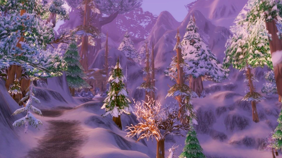 Typiquement, pour le joueur australien, le Berceau-de-l'Hiver, c'est plutôt une chouette zone estivale. - World of Warcraft