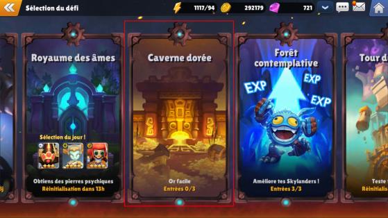 La Caverne Dorée - Skylanders Ring of Heroes