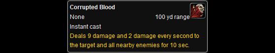 Je vous présente le responsable de tout ce tintouin : le sort du Sang Vicié - World of Warcraft