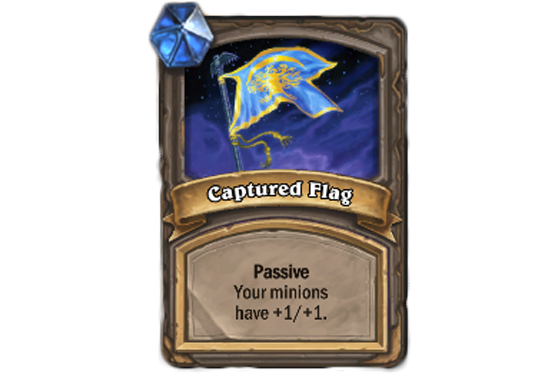Passif. Vos serviteurs ont +1/+1 - Hearthstone