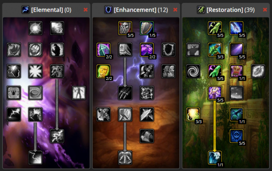 Build Restauration CaC PvE 0/12/39 - WoW : Classic