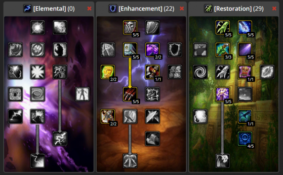 Build Totems DPS PvE 0/22/29 - WoW : Classic