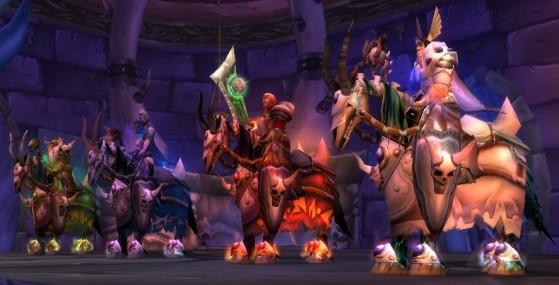 De gauche à droite : Thane Korth'azz, Lady Blaumeux, Baron Vaillefendre et Sir Zeliek - World of Warcraft : Classic