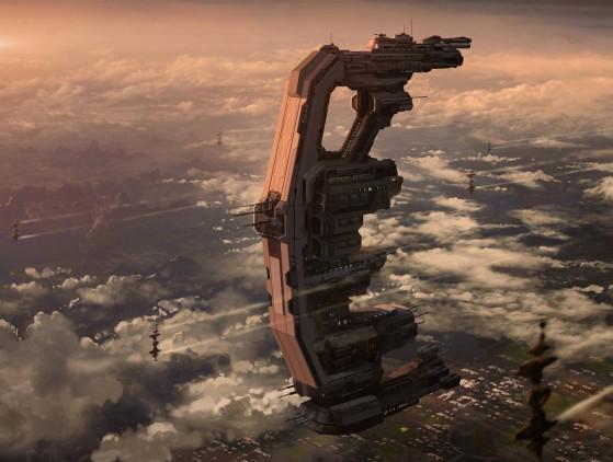 Concept d'un vaisseau de transport Xi'an de taille capitale - Star Citizen