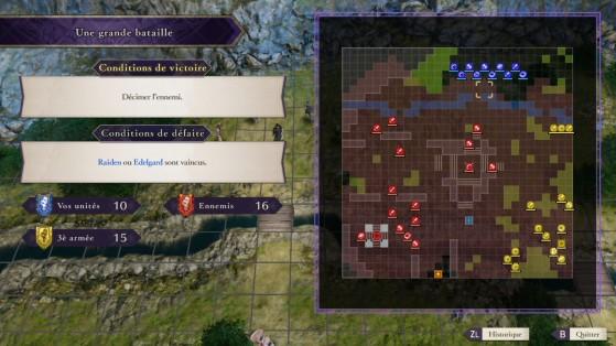 Bataille interclasses avec 3 armées ennemies. - Fire Emblem Three Houses