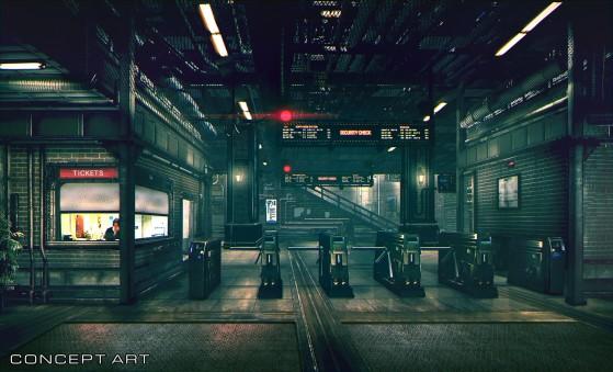 La gare du secteur 1 de Midgar version 2020 - Final Fantasy 7 Remake