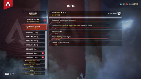Les défis de l'événement - Apex Legends