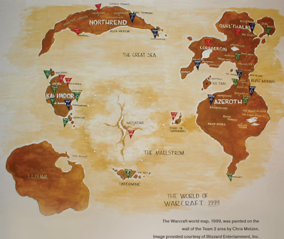 Le monde de Warcraft, tel qu'il était imaginé par Chris Metzen en 1999, au tout début du développement du MMORPG - WoW : Classic