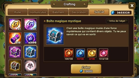 Boîte magique mystique - Summoners War