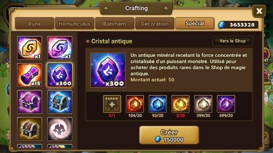 Cristal antique - Summoners War