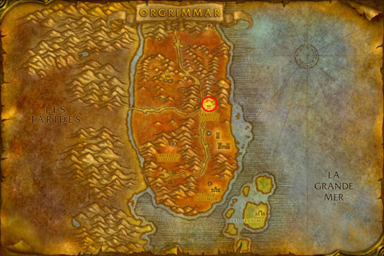 Localisation d'Ophek - WoW : Classic