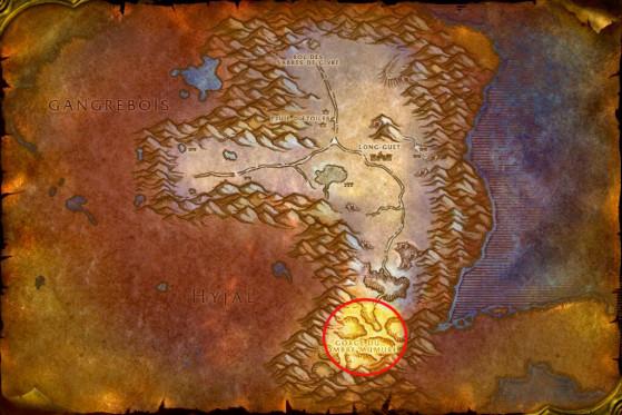 Localisation des démons Hederine - WoW : Classic
