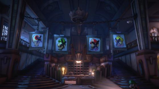 Soluce Luigi's Mansion 3, étage 1 : Grand hall