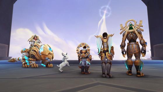 Apporter votre aide à la congrégation des Kyrians vous permettra d'obtenir divers objets ornementaux et notamment des accessoires de dos capables de rivaliser avec la splendeur des ailes kyrianes. - World of Warcraft