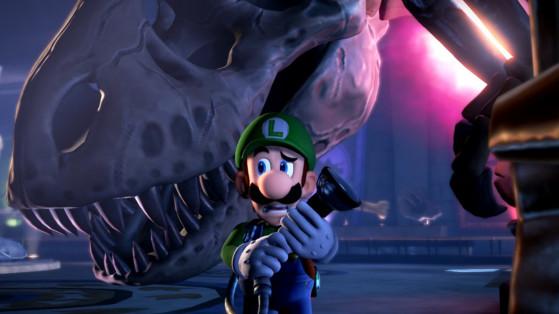 Soluce Luigi's Mansion 3, étage 9 : Musée d'histoire surnaturelle, boss T-Rex