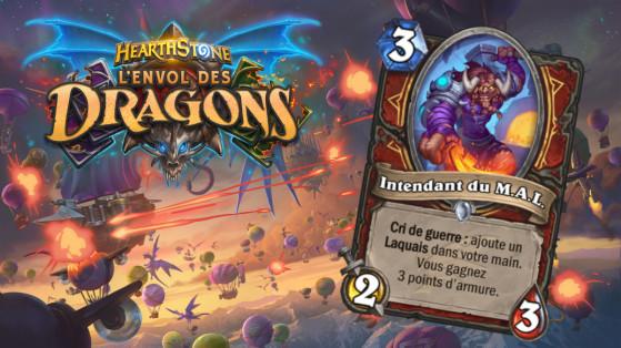 Hearthstone Envol des Dragons : nouveau serviteur commun Guerrier Intendant du M.A.L
