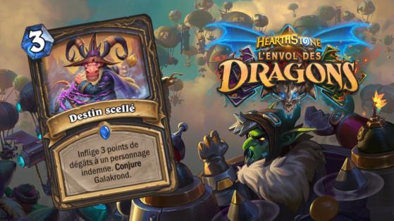 Hearthstone Envol des Dragons : nouveau sort rare Voleur Destin scellé