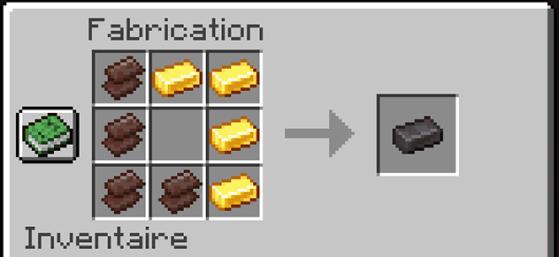 4 fragments et 4 lingots d'or = un lingot de Netherite - Minecraft