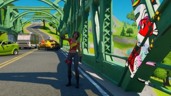 Fortnite : Composer un arc-en-ciel en visitant les ponts en acier rouge, jaune, vert, bleu et violet