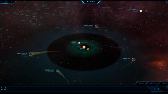 Horus et ses astres dans la Starmap - Star Citizen