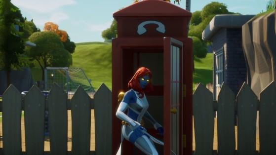 Fortnite : cabine téléphonique, utiliser, défi Eveil de Mystique