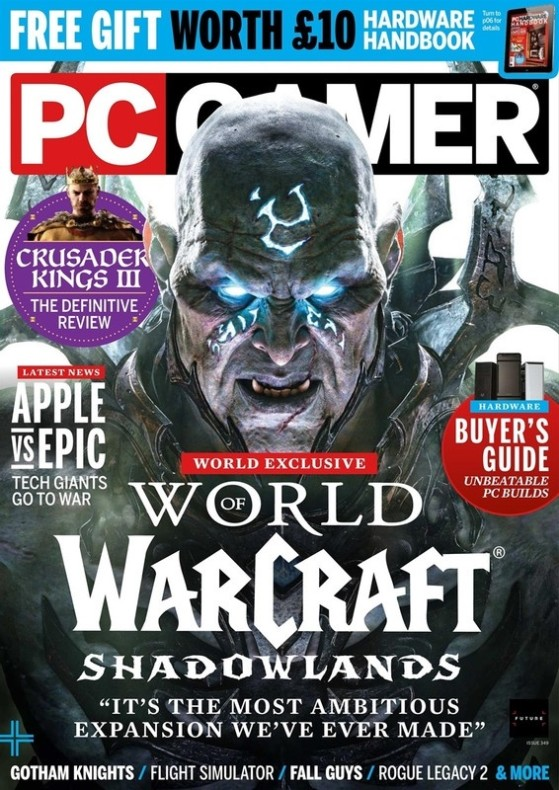 Couverture du magazine PC Gamer de Novembre - World of Warcraft