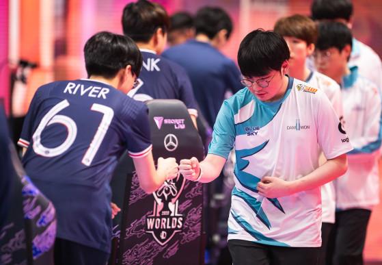 Comme beaucoup, le PSG Talon a succombé à l'ogre coréen, DAMWON Gaming. // Crédit photo : Lolesports - League of Legends