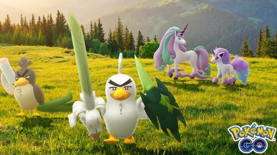 Canarticho et Ponyta de Galar disponibles sur Pokémon GO