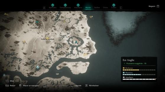 Localisation du trésor - Assassin's Creed Valhalla