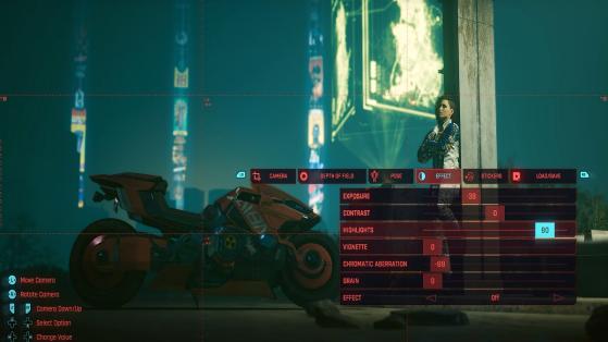 Des retouches photos ultra précises - Cyberpunk 2077