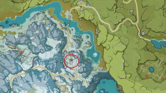 Emplacement de l'arbre permagelé - Genshin Impact