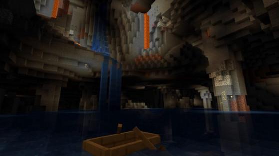 Minecraft 1.17 : La snapshot 21w06a introduit la nouvelle génération des grottes