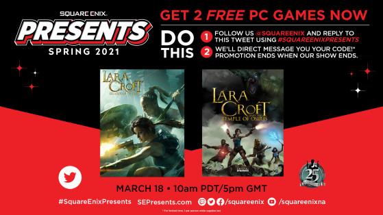 Square Enix offre deux jeux Lara Croft