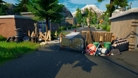 Fortnite : des barricades sont érigées dans plusieurs lieux-dits du jeu