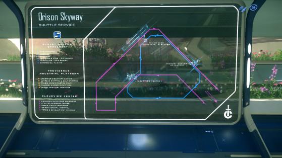 Le transit entre les différentes plateformes se fait par navettes volantes - Star Citizen