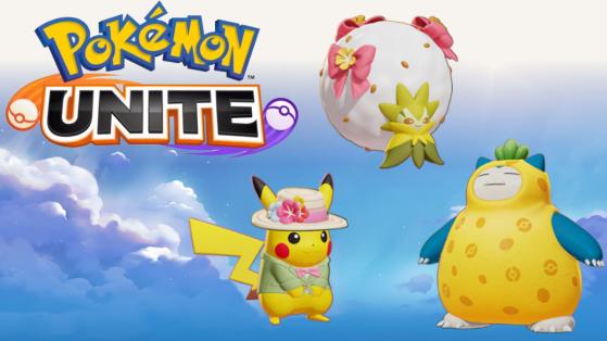 3 nouveaux skins ajoutés sur Pokémon Unite pour Pikachu, Blancoton et Ronflex
