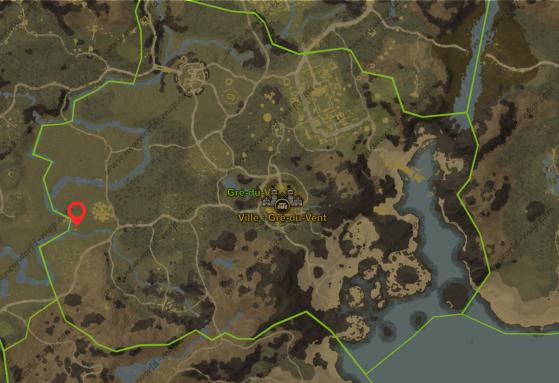 Localisation du lieu de quête - New World