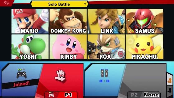 Le roster au début - Super Smash Bros. Ultimate, SSBU