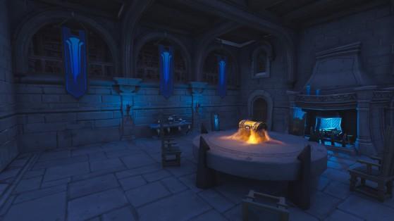 La salle du conseil, au sous-sol - Fortnite : Battle royale