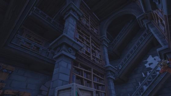 La bibliothèque dans la tour. - Fortnite : Battle royale