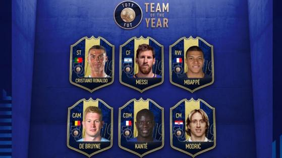 FIFA 19 : TOTY, onze de l'année