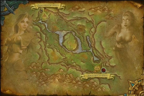 Carte du Bassin d'Arathi - World of Warcraft