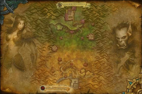 Carte du Goulet des Chanteguerres - World of Warcraft